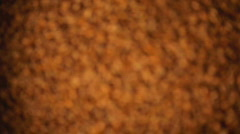 Coffee beans comming into focus Stock Footage