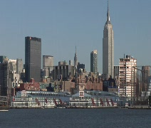NYC Subway Cars on Barge 02 Stock Footage