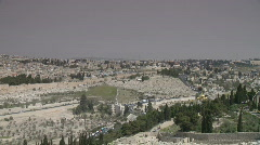 Jerusalem pan templemount 1 Stock Footage