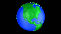 Cartoon Earth North America Stock Footage