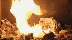 fireplace loop 7 - stock footage