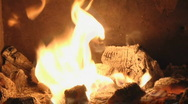 Fireplace loop 7 Stock Footage