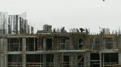 Construction of the building. Time lapse Stock Footage