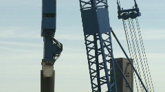 Pile driver in construction  Stock Footage