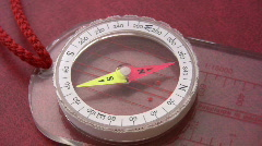 Compass revolves Stock Footage