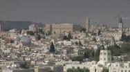 Stock Video Footage of jerusalem pan over old city