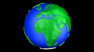 Cartoon Earth Europe Stock Footage