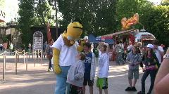 Homer Simpson at Universal Studios Stock Footage