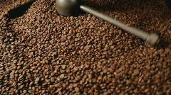 Roasting coffee wide Stock Footage