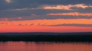 Stock Video Footage of Sundown on Volga river. Time lapse