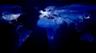World at Night with Ray of Lights (Loop) Stock Footage