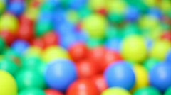 Ensemble varicoloured ball Stock Footage