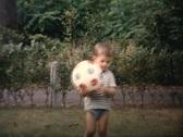 Children playing in the garden vintage Stock Footage