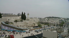 Western Wall Wide pan Stock Footage