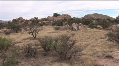 dragoon mountains pan triangle t guest ranch 9th in series - stock footage