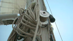 Yacht mast Stock Footage