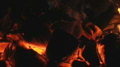 Live coals 1 Stock Footage