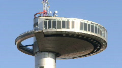 Observation deck Madrid Zoom out 2 Stock Footage