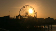 Stock Video Footage of Pacific Park Pier Ferris Wheel spinnig