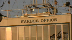 Harbor Police Office, Bay Watch, Zoom out Stock Footage