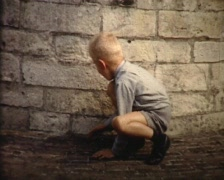 playing hide and seek in the park vintage - stock footage