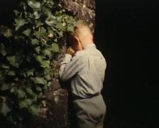 Playing hide and seek vintage Stock Footage