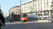 Milan Tram Stock Footage
