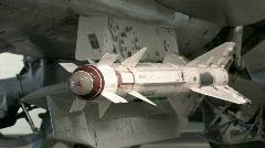 Soviet missile Mig-23 Flogger Nellis AFB M HD - stock footage