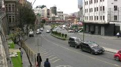 La Paz, Bolivia Active Street Stock Footage