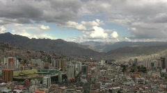 La Paz, Bolivia overlook Stock Footage
