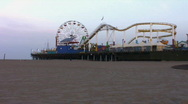 Stock Video Footage of Pacific Park Pier Ferris Wheel