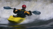 Stock Video Footage of Extreme Kayaking