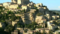 French hillside town Stock Footage