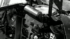 Mig 29 Fulcrum cockpit BW tilt M HD Stock Footage