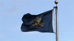 Pennsylvania Flag Blows in the Wind Stock Footage