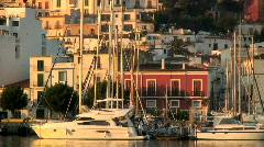 Harbor in Ibiza - stock footage