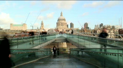 St Pauls London Stock Footage