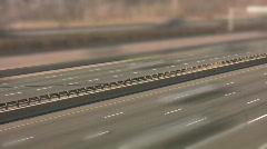 Highway divider. Timelapse. Tiltshift effect. Stock Footage