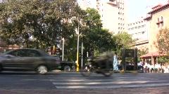 Bombay India Street Daytime Street Scene Stock Footage