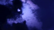 Stock Video Footage of time lapse of mooon at night with blowing clouds