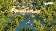 Inlet Ibiza Spain Stock Footage