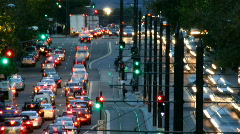 Busy Close Up Traffic Timelapse - stock footage