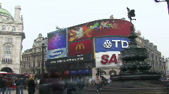 Picadilly Circus London Time Lapse 2 Stock Footage
