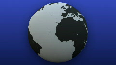 Rotating Globe with blue Background (Loop) Stock Footage