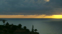 Sunset with some really cool shadows over the ocean. - stock footage