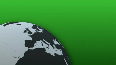 Rotating Globe with green Background (Loop) Stock Footage