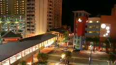 A1A Ocean Walk - Daytona Beach Stock Footage