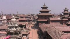 Durbar square Bhaktapur Kathmandu valley nepal pt 2 Stock Footage