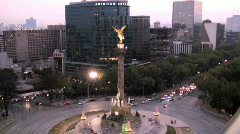 Independence Monument Mexico City Stock Footage