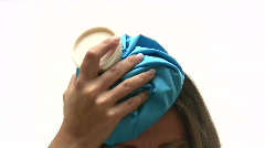 Woman with Headaches Stock Footage